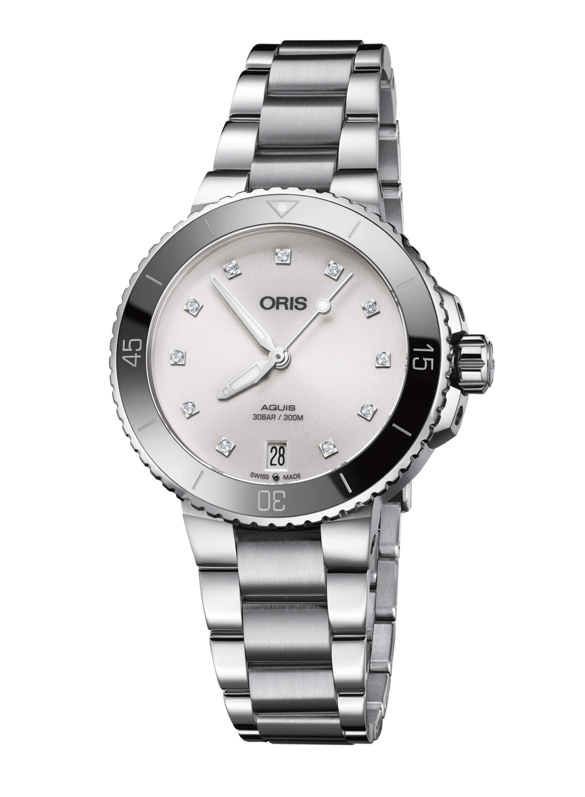 Часы Oris Diving Aquis Date Diamonds 733.7731.4191 MB 8.18.05P